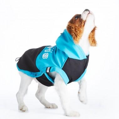 SnowDog softshellová bunda modrá